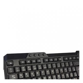 Kit Mouse E Teclado C3TECH K-W10BK S/Fio USB Preto