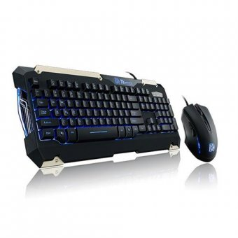 Kit Teclado e Mouse Gamer Commander TT Kb-cmc-plblpb-01