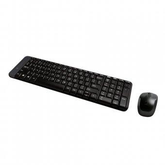 Kit Teclado e Mouse Logitech Sem Fio Abnt2 Mk235