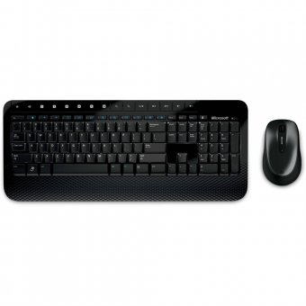 KIT Teclado e Mouse Microsoft USB Wireless Desktop 2000 Preto M7J-00021