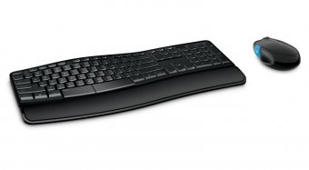 Kit Teclado e Mouse Microsoft Wireless Comfort Sculpt L3V-00005 - Preto