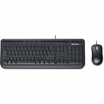 Kit Teclado e Mouse Wired Desktop 600 - Microsoft