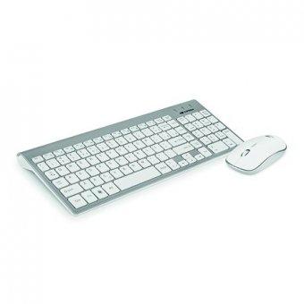 Kit Teclado + Mouses/fio Branco K-w510swh C3tech