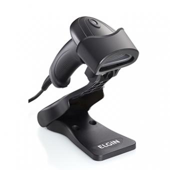 Leitor De Código De Barras Imager EL220 2D C/ Pedestal USB Preto