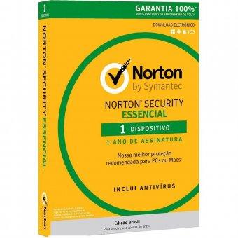 Licença Norton Security 1 Dispositivo 12 Meses