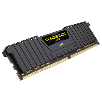 Memoria Corsair 4GB DDR4/2400MHz  1 unit 288 DIMM  LPX Black - CMK4GX4M1A2400C16