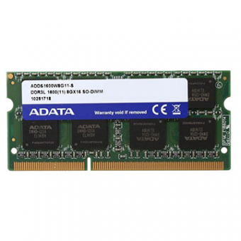 Memoria Adata 8GB DDR3-1600MHZ Notebook Low Voltage ADDS1600W8G11-S