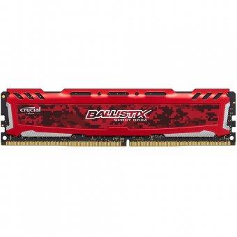 Memória Crucial Ballistix Sport Lt 16GB 2400mhz Ddr4 RED-BLS16G4D240FSE