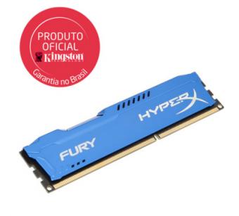 Memória Kingston Hyperx Fury 4gb 1866mhz Ddr3 Cl10 Azul