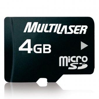 Cartão de Memória Micro SD Multilaser 4gb C/adapt Mc456
