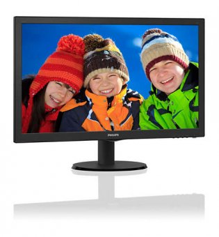 Monitor 23,6'' Philips LED 243V5QHAB RGB/HDMI/DVI