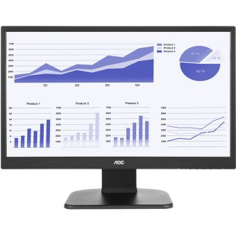 Monitor AOC 21.5´ LED, Widescreen, 5ms, HDMI, Preto - E2270PWHE
