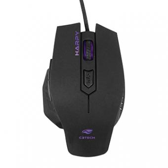 Mouse C3TECH Gamer Harpy MG-100BK Preto