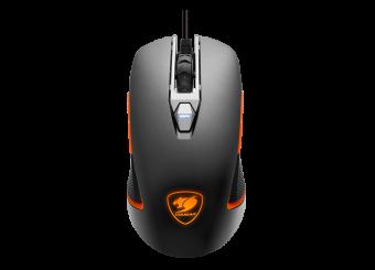 Mouse Gamer Cougar 5000DPI 8 Botões com LED Preto e Laranja 450M
