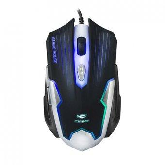 Mouse Gamer Usb Mg-11bsi Preto/prata C3tech