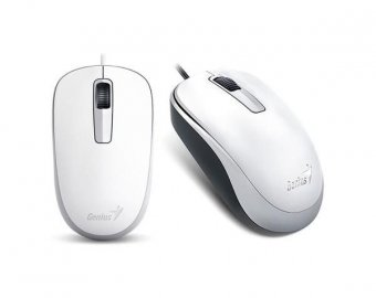 MOUSE GENIUS WIRED DX-125 USB 1200 DPI BRANCO