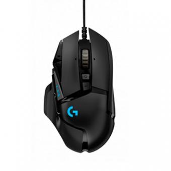 Mouse Logitech Gamer G502 Hero OPT USB Preto Res. 100 A 16000 DPI