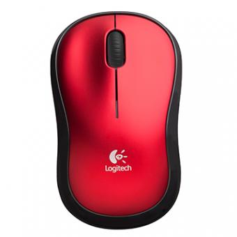 Mouse Logitech M185 Sem Fio RC/Nano Vermelho