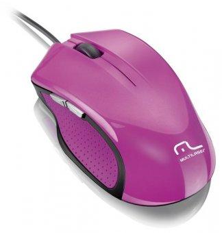 Mouse Multilaser Xgamer 2400dpi Rosa, Mo201