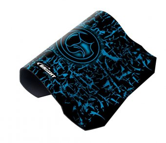 Mouse Pad Gamer Preto e Azul Bright 0496