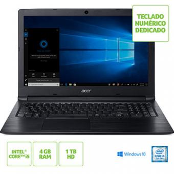 Notebook ACER 15,6 Led A315-53-55DD I5-7200U 4GB 1TB W10 SL Tec Numerico