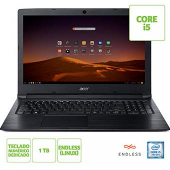 Notebook ACER 15,6 Led A315-53-57G3 I5-7200U 8GB 1TB Linux Tec Numerico