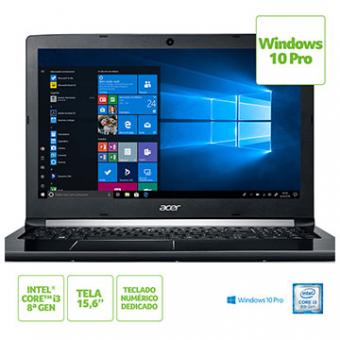 Notebook ACER 15,6 Led A515-51-37 LG I3-8130U 4GB 1TB W10 PRO