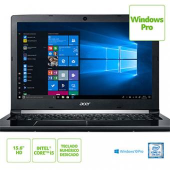 Notebook ACER A515-51-58DG I5-7200U 4GB 1TB 15,6 Led Windows 10 Pro