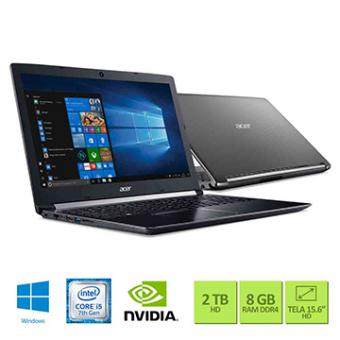 Notebook Acer 15,6 LED A515-51G-50W8 I5-7200U 8GB 2TB W10 SL GEFORCE 940MX 2GB