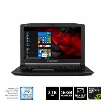 Notebook Gamer Acer Helios 300 - G3-572-75l9 I7-7700hq 16gb 2tb Gforce 1060 Gtx 6gb Dedi 15,6