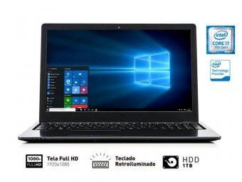 "NOTEBOOK VAIO INTEL CORE I7, 8GB, 1TB, TELA DE 15,6"", INTEL HD GRAPHICS 620 - FIT 15S VJF155F11X-B0511B"