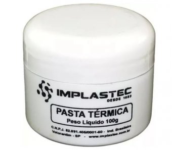 Pasta térmica 100g Pote IMPLASTEC IMP0009