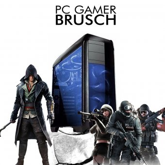 PC InfoParts BRUSCH - RYZEN 5 2400G 3.6ghz, 1TB, GTX 1050TI 4GB, 8GB DDR4