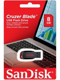 Pen Drive 8gb Sandisk Blade Preto