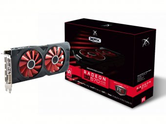 Placa de Vídeo Amd Rx 570 4gb Rs Xxx Ed Oc+ Ddr5 1284mhz XFX RX-570P4DFD6