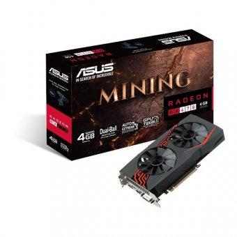 Placa De Vídeo Asus Radeon Rx 470 4gb Mining Ddr5 256bits - Mining-Rx470-4g-Led