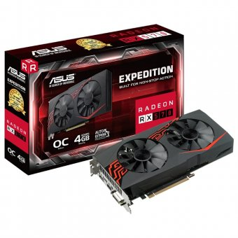 Placa de Vídeo Asus Radeon Rx 570 4gb Expedition Oc Gddr5 256bits Ex-rx570-o4g