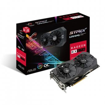 Placa de Vídeo Asus Radeon Rx 570 4gb Gddr5 Rx570-04g-gaming Rog-strix