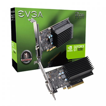 Placa de Vídeo EVGA GeForce GT 1030 2GB SDDR4 64 Bits 1xDVI-D 1xHDMI Passive Low Profile