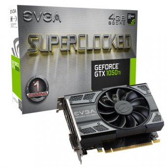 Placa De Vídeo Evga Geforce Gtx 1050 Ti Sc 4gb 128bit Gddr5, 04g-P4-6253-Kr