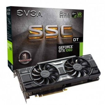 Placa de Vídeo EVGA GeForce GTX 1060 SSC 6GB 06G-P4-6265-KR