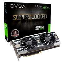 Placa De Vídeo EVGA Geforce GTX 1070 SC Gaming ACX 3.0 8GB/256BITS GDDR5 DVI-D+HDMI+3DP 08G-P4-6173