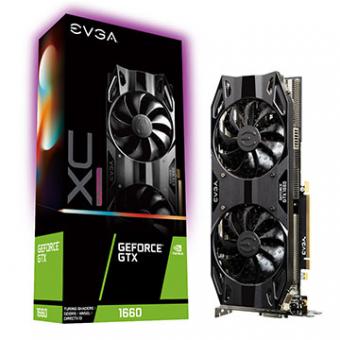 Placa De Video EVGA Geforce GTX 1660 XC Black Gamming DDR6 6GB/192B PCI-E+DP+HDMI 06G-P4-1167-KR