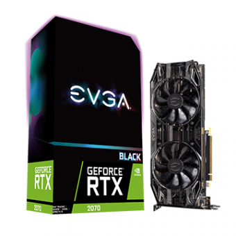 Placa  De Video EVGA Geforce RTX 2070 XC Black Edition DDR6 8GB/256BT PCI-E 3DP HDMI 08G-P4-2071-KR