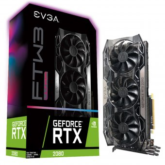 Placa de Vídeo EVGA Geforce Rtx 2080 Ftw3 Ultra Gaming Ddr6 8gb/256bt 08g-P4-2287-Kr