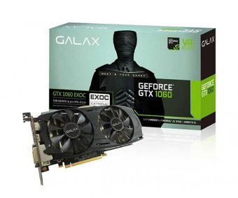 Placa de Vídeo Galax Geforce Gtx 1060 3gb Ex Oc Gddr5 192bit 60nnh7dvm6o3