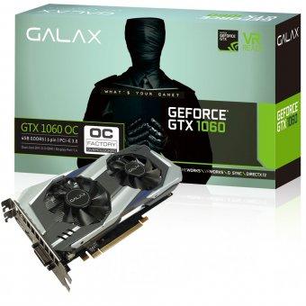 Placa de Vídeo Galax GEFORCE GTX 1060 OC 6GB GDDR5 192Bits 8008MHZ 60NRH7DSL9OC
