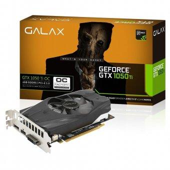 Placa de Vídeo Galax GTX 1050TI 4GB GDDR5 128Bits OC 50IQH8DSC7CB-ICBG