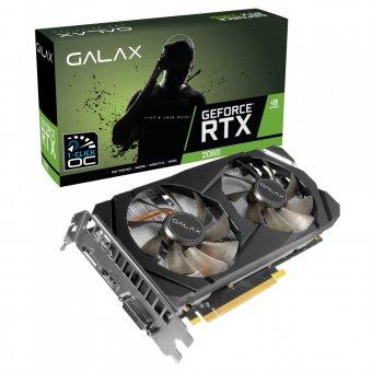 Placa de Vídeo Galax RTX2060 6GB 1Click OC G6 192Bits 26NRL7HPX7OC