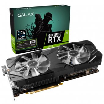 Placa de Vídeo Galax RTX2070 8GB EX 1Click OC G6 256B 27NSL6MPX2VE